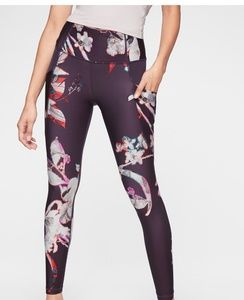 Athleta Pants - Athleta Stash Pocket Floral Salutation Tight